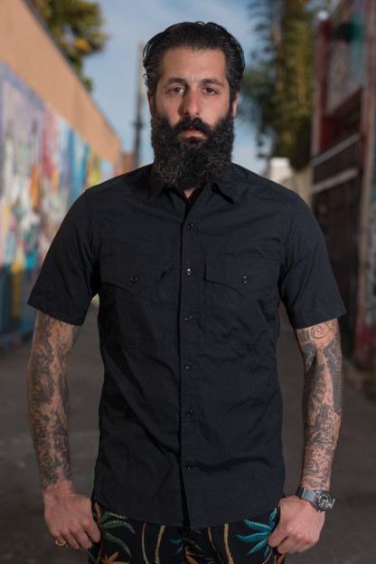 Monitaly Short Sleeve Military Shirt - Vancloth Black