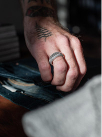 Neff Goldsmith Sterling Silver Inverted Soul Ring - Image 5