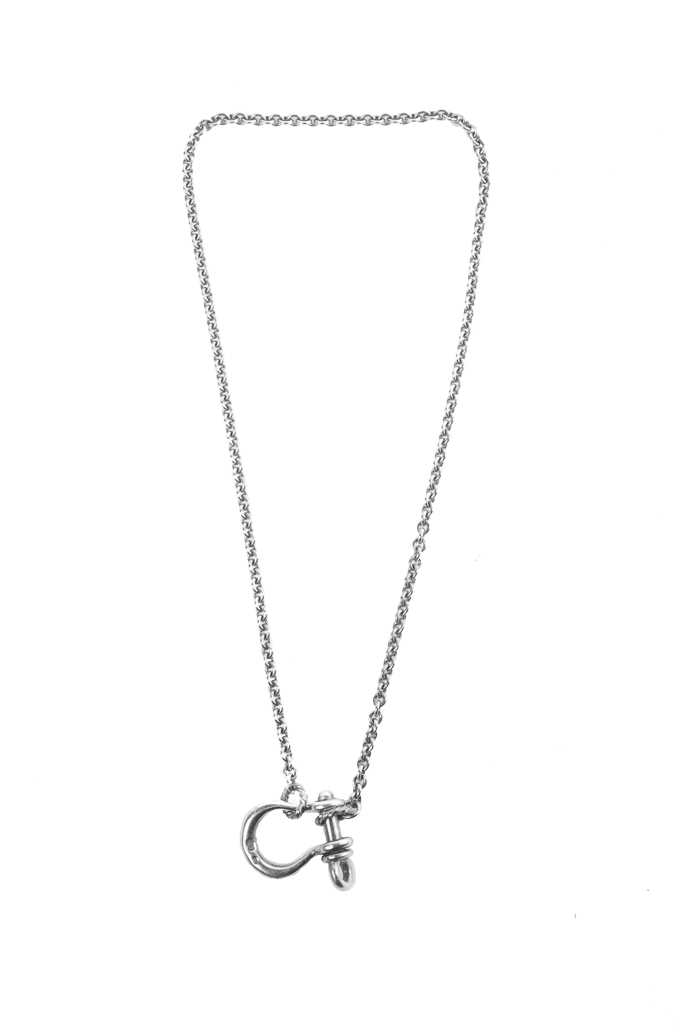 Neff Goldsmith Sterling Silver Necklace & Pendant - Textured Shackle - Image 0