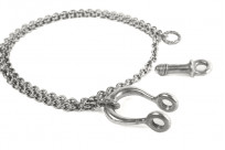 Neff Goldsmith Sterling Silver Necklace & Pendant - Textured Shackle - Image 2