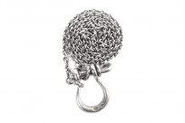 Neff Goldsmith Sterling Silver Necklace & Pendant - Textured Shackle - Image 5
