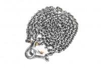 "Neff Goldsmith Link Chain w/ Custom Silver & Gold Clasp - 3mm / 21"" - Image 5"