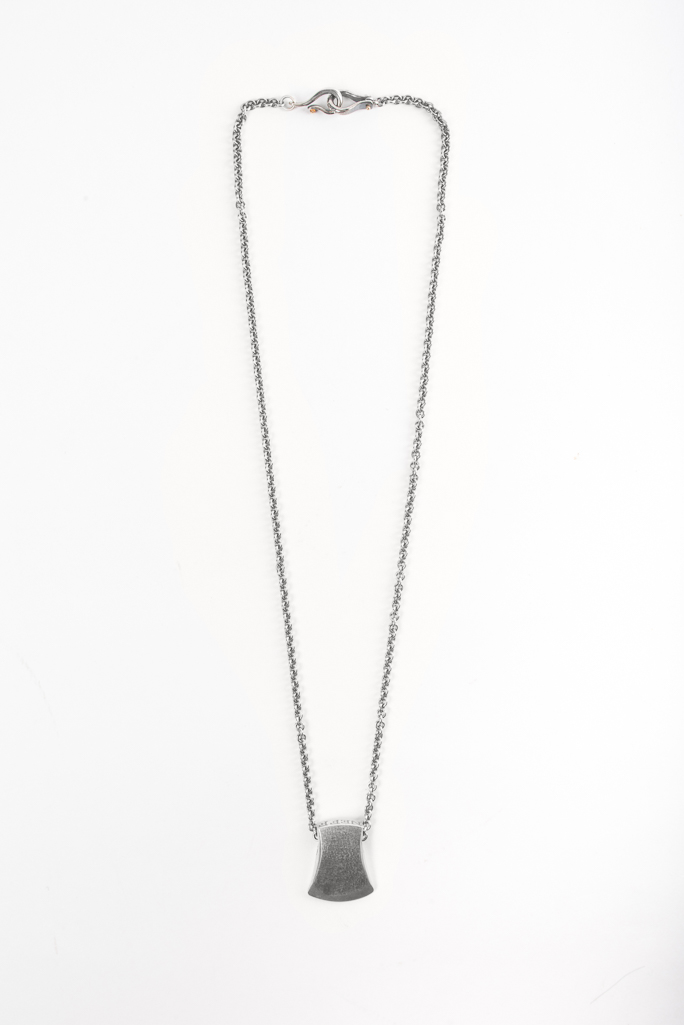 Neff Goldsmith Sterling Silver Necklace & Pendant - Axe Head - Image 4