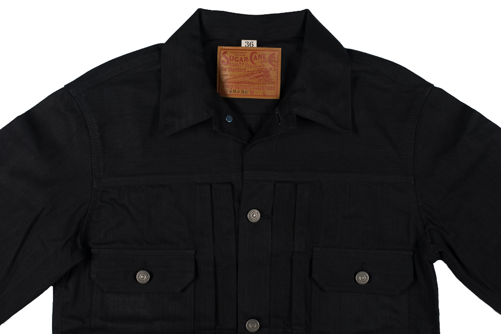Sugar Cane 1953 Type II Denim Jacket - Black - Image 6