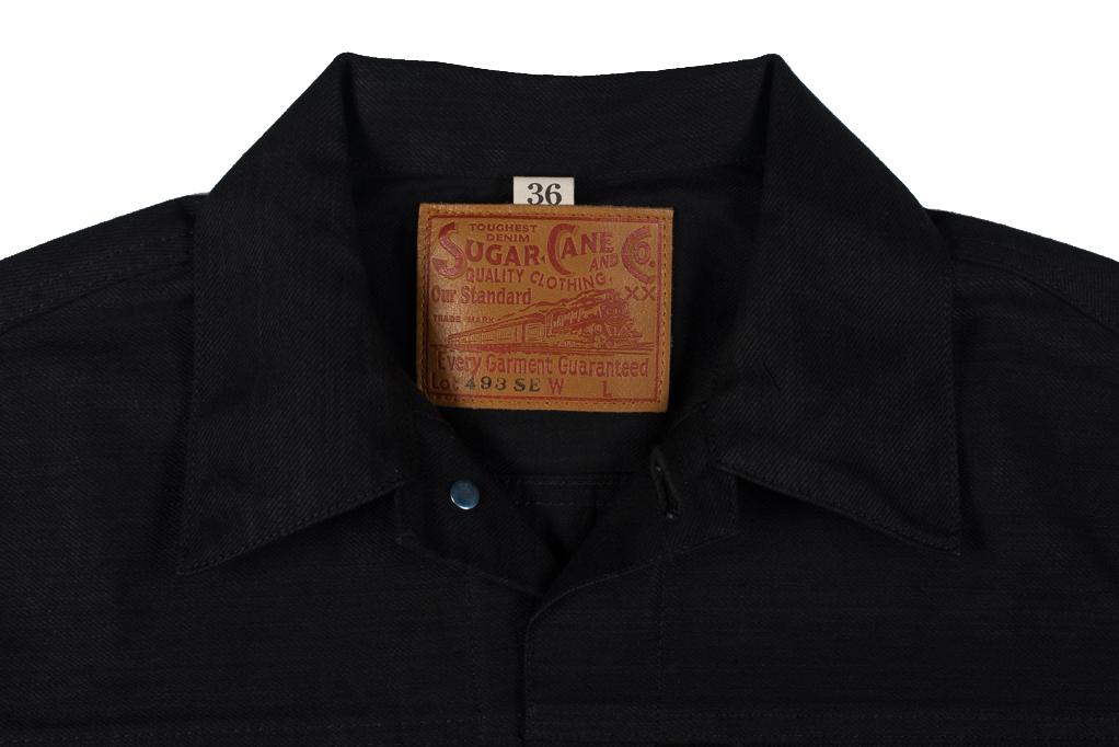 Sugar Cane 1953 Type II Denim Jacket - Black - Image 5