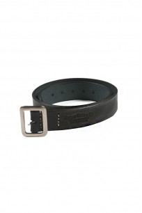 Sugar Cane Cowhide Leather Belt - Black - Image 0