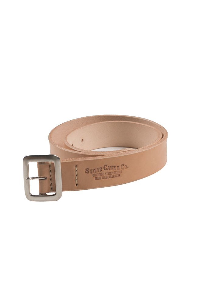 Sugar Cane Cowhide Leather Belt - Tan - Image 0