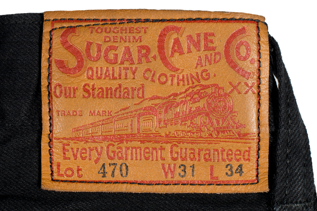 Sugar Cane Type III Black Denim Jeans - Slim - Image 1