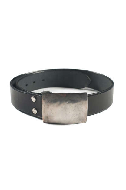 Studio D'Artisan Belt - Steel Buckle Black