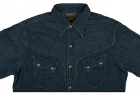 Stevenson Cody Snap Shirt - Washed Down Indigo Denim - Image 4