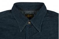 Stevenson Cody Snap Shirt - Washed Down Indigo Denim - Image 1