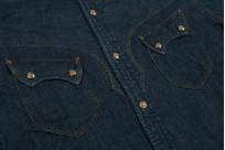 Stevenson Cody Snap Shirt - Washed Down Indigo Denim - Image 6