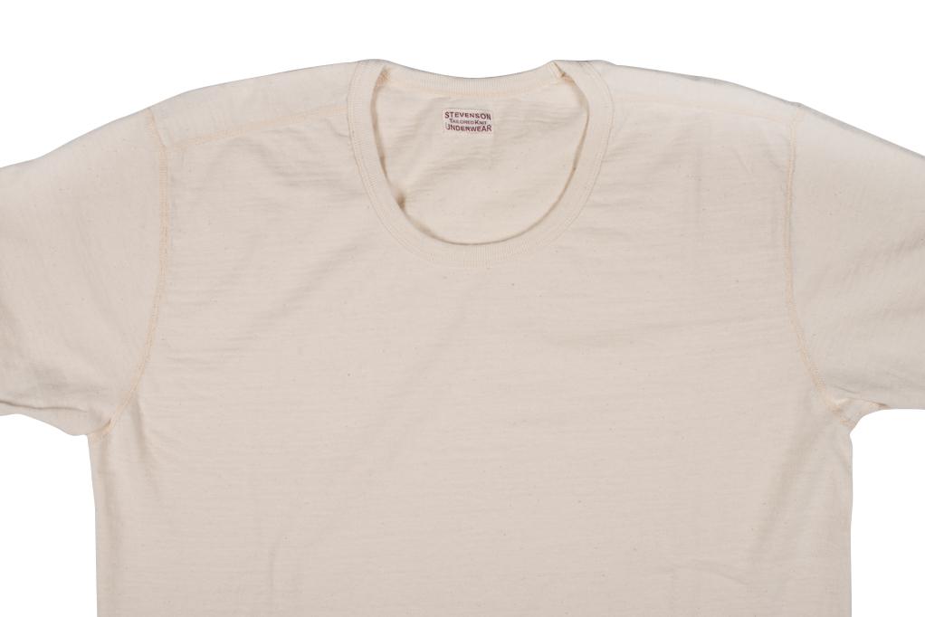 Stevenson Loopwheeled Short Sleeve T-Shirt - Oatmeal - Image 3