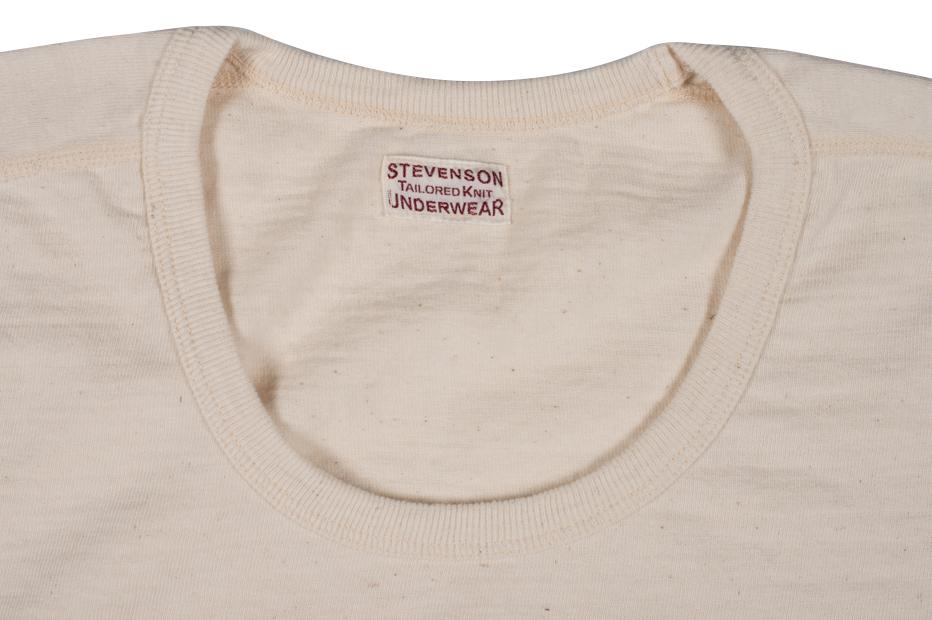 Stevenson Loopwheeled Short Sleeve T-Shirt - Oatmeal - Image 2