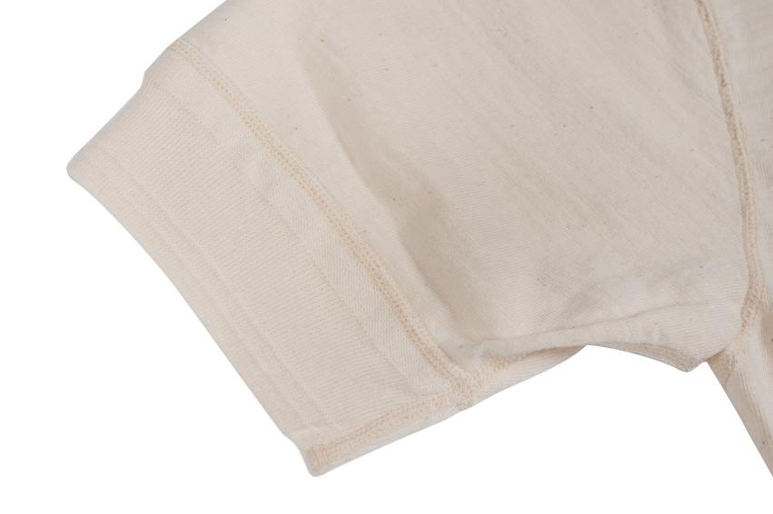 Stevenson Loopwheeled Short Sleeve T-Shirt - Oatmeal - Image 4