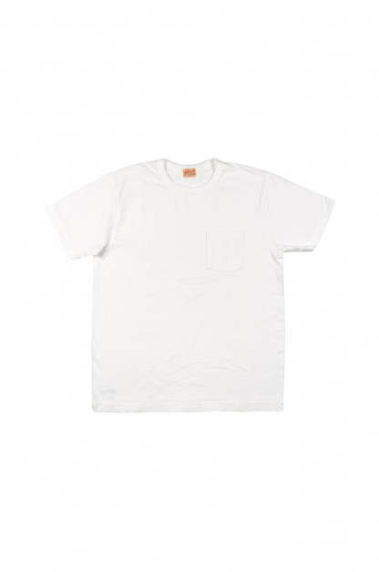 Whitesville Japanese Made Heavyweight Pocket T-Shirt - White
