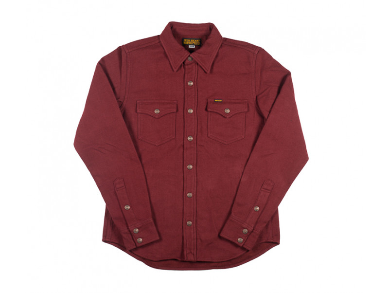b4e6a9cdc8b Iron Heart Ultra-Heavy CPO Flannel w/ Hand Pockets - Burgundy