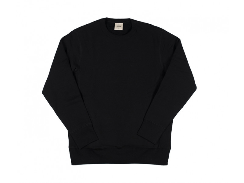 68c808f48e 3sixteen Heavyweight Crewneck Sweater w  Hand Pockets - Black