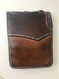 Flat Head Wild Child Leather & Cordovan Wallet - Tan - Image 9