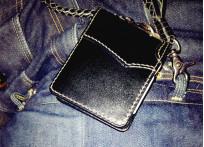 Flat Head Wild Child Leather & Cordovan Wallet - Black - Image 8