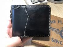 Flat Head Wild Child Leather & Cordovan Wallet - Black - Image 10