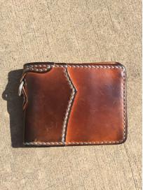 Flat Head Wild Child Leather & Cordovan Wallet - Tan - Image 12