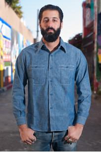 Buzz Rickson USN Chambray Shirt - Indigo - Image 0