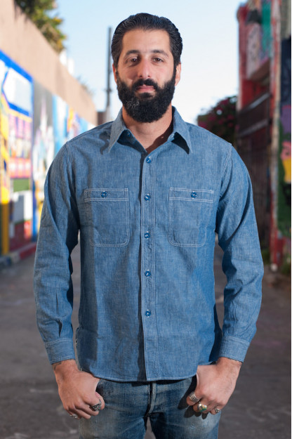 Buzz Rickson USN Chambray Shirt - Indigo