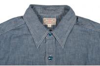 Buzz Rickson USN Chambray Shirt - Indigo - Image 2