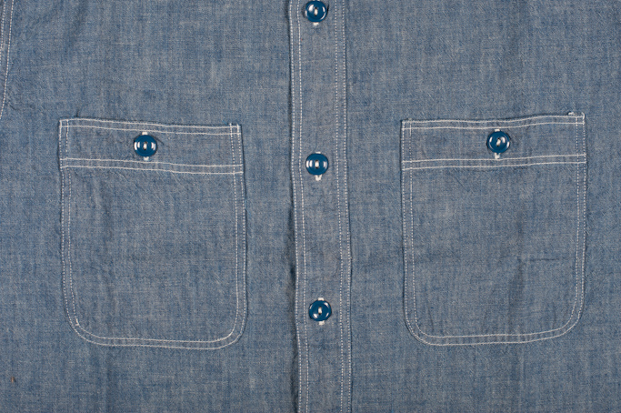 Buzz Rickson USN Chambray Shirt - Indigo - Image 1