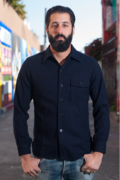 Buzz Rickson Navy Wool Flannel CPO Shirt