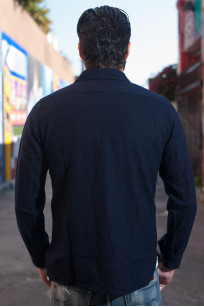 Buzz Rickson Navy Wool Flannel CPO Shirt - Image 1
