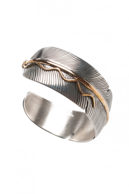 Self Edge Feather Bracelet w/Gold Fill