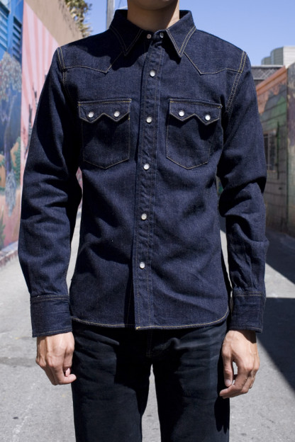 Flat Head Sawtooth Selvedge Denim Shirt