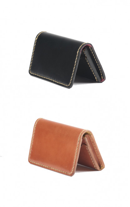 Flat Head Hand-Sewn Cordovan Wallet