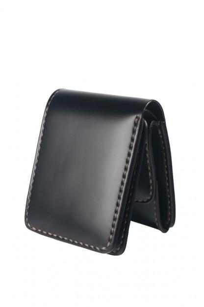 Iron Heart Folding Cordovan Wallet - Black