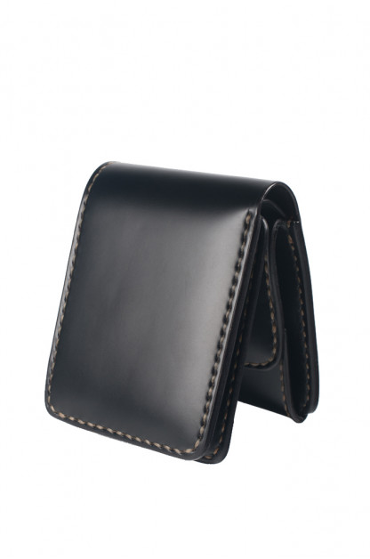 Iron Heart Folding Cordovan Wallet - Black