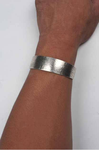 Self Edge Dale Hammered Silver Bracelet