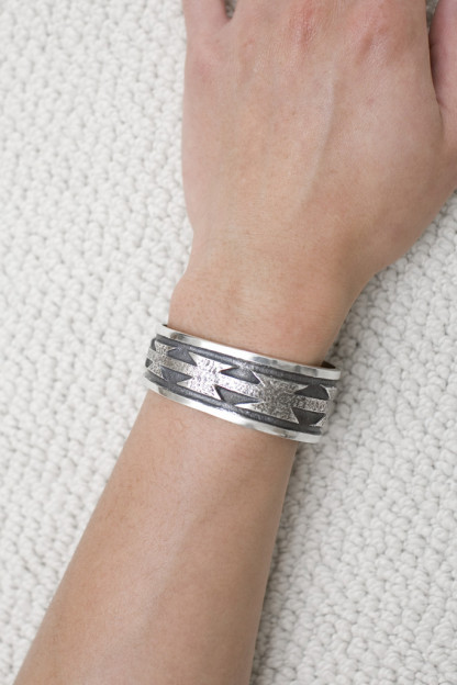 Self Edge Silver Axe Bracelet