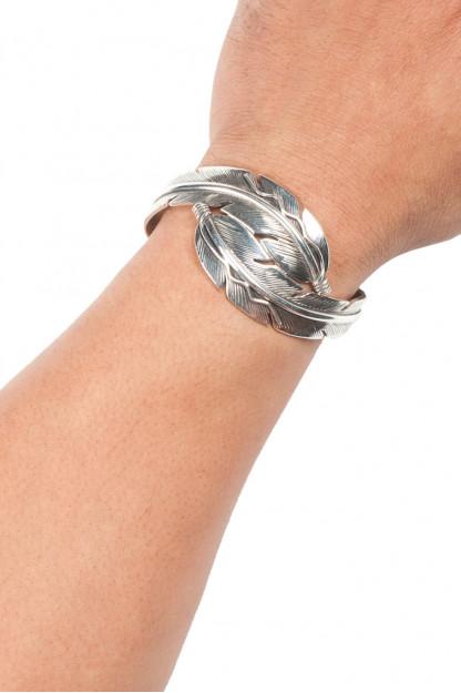 Self Edge Double Crossed Feather Bracelet