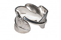 Flat Head Silver Feather Ring - Image 3