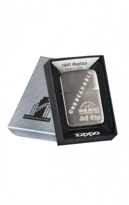 Self Edge x Iron Heart Zippo 1941 Repro Lighter - Unbreakable