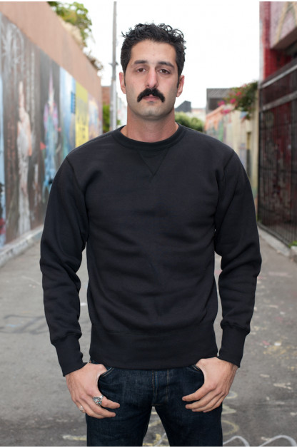 Strike Gold Heavy Loopwheeled Sweatshirt - Black