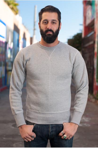 Strike Gold Heavy Loopwheeled Sweatshirt - Heather Gray