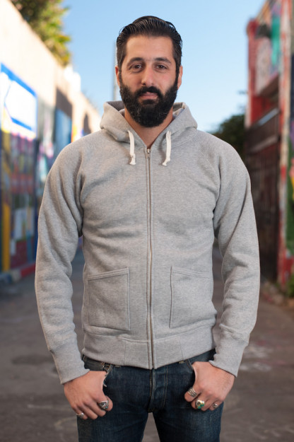 Strike Gold Heavy Loopwheeled Zip Hoodie - Heather Gray