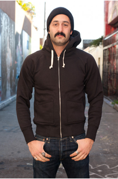 Strike Gold Heavy Loopwheeled Zip Hoodie - Black