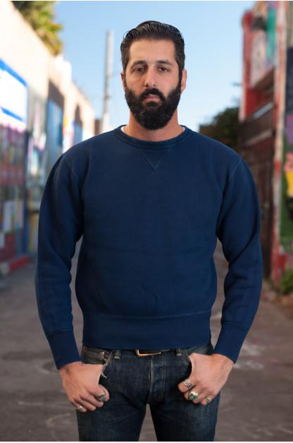 Strike Gold Heavy Loopwheeled Sweatshirt - Indigo Dyed