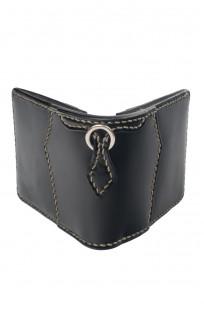 Flat Head Wild Child Leather & Cordovan Wallet - Black - Image 0