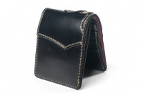 Flat Head Wild Child Leather & Cordovan Wallet - Black - Image 1