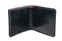 Flat Head Wild Child Leather & Cordovan Wallet - Black - Image 2